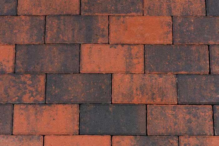 Betonbestrating - Betonstraatsteen Rood / Zwart