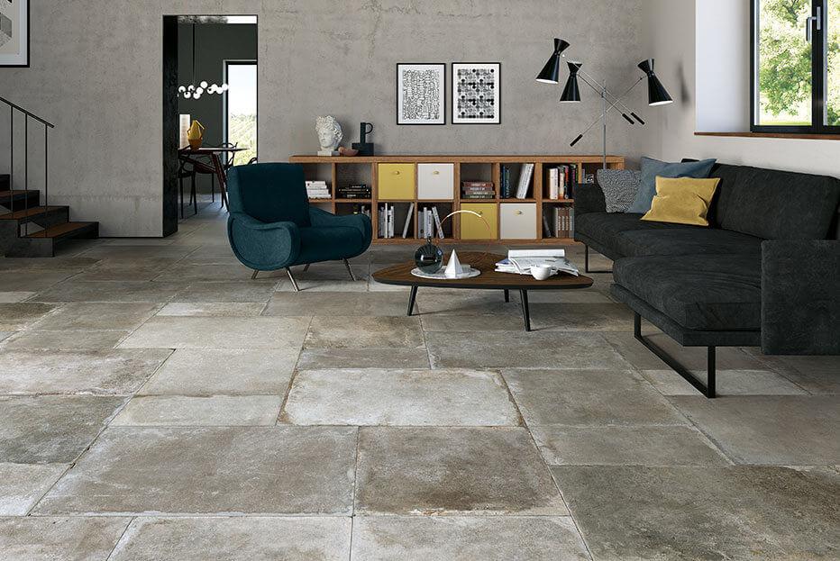 Oude vloertegels - Montpellier Cenere - Mat (Binnen)