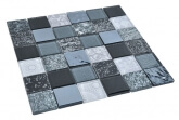 Glas Mozaiek - Elements Black