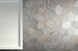 Wandtegels 40x40 - Kent Grigio - Esagona