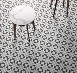 Portugese keramische wandtegels - Patchwork Black & White 02