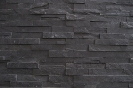 Black Slate Stone Panels - Flat Face