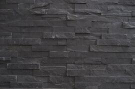 Muurbekleding - Black Slate Stone Panels - Flat Face