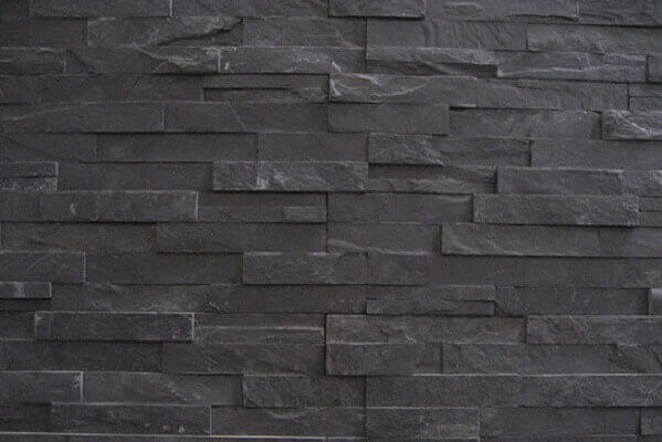 Stonepanels - Black Slate Stone Panels - Flat Face