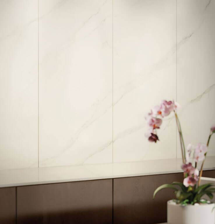 Dunne vloertegels - To Be Marble Statuario - Satin