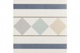 Tegels multicolor - Bistro 002- Randstuk 20x20