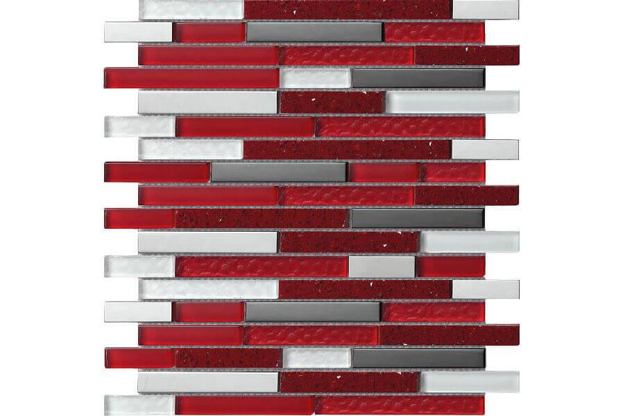 Taupe wandtegels - Quartz Red