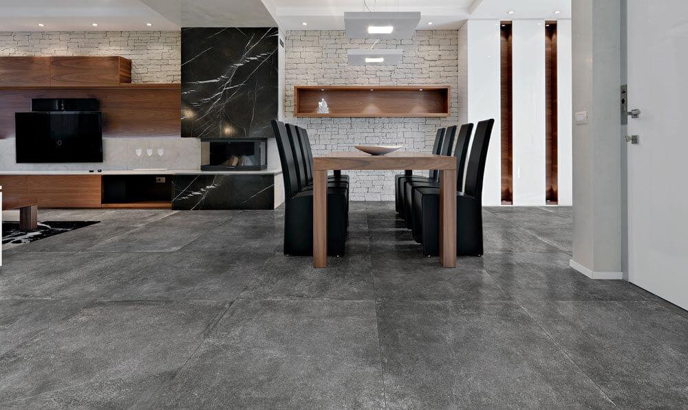 Vloertegels betonlook 80x80 cm - Marmocemento Fumè