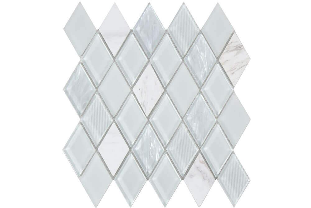 Mozaïek tegels - Jewel White