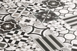 Portugese vloertegels - Patchwork Black & White - Mix