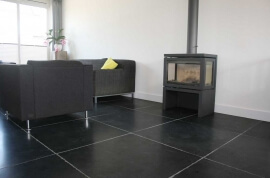 Betontegels 90x90 - Desert Black Leisteen