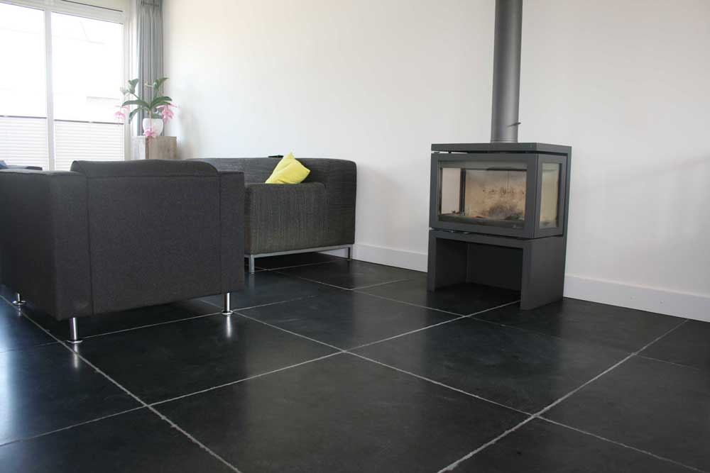 Wandtegels 80x80 - Desert Black Leisteen
