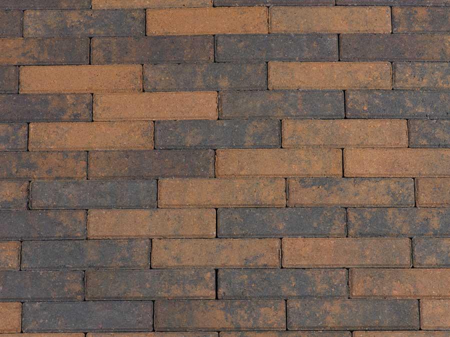 Betonbestrating - Sierbestrating Waalformaat Bruin / Zwart