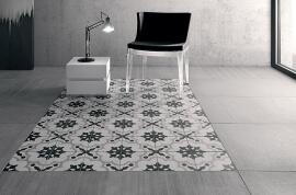 Witte vloertegels - Cementine Black&White 2