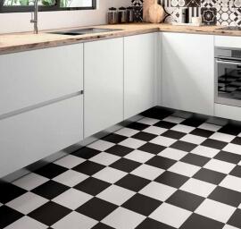 Zwarte vloertegels - Patchwork Black & White - Black