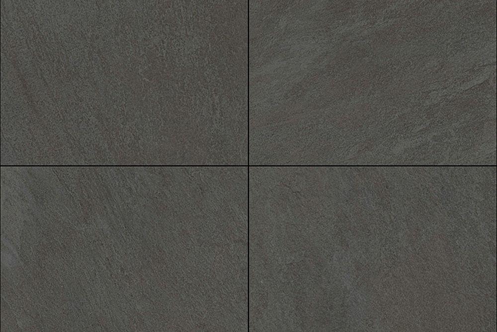 Zwarte terrastegels - Slate Dark Grey