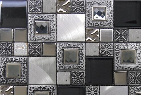 Mozaiek wandtegels - Barok Silver