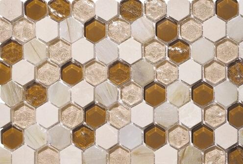Mozaiek wandtegels - Hexagonos Beige