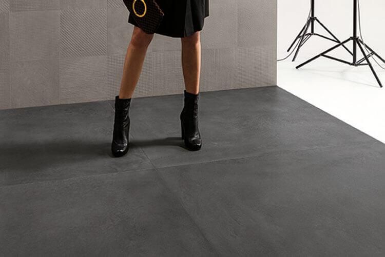 Wandtegels 90x180 - Tr3nd Concrete Black