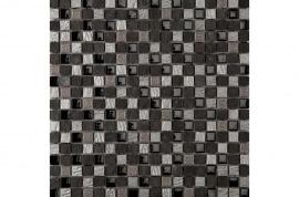 Keramische Mozaiek - Dubai Silver Black