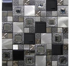 Glas Mozaiek - Frame Silver