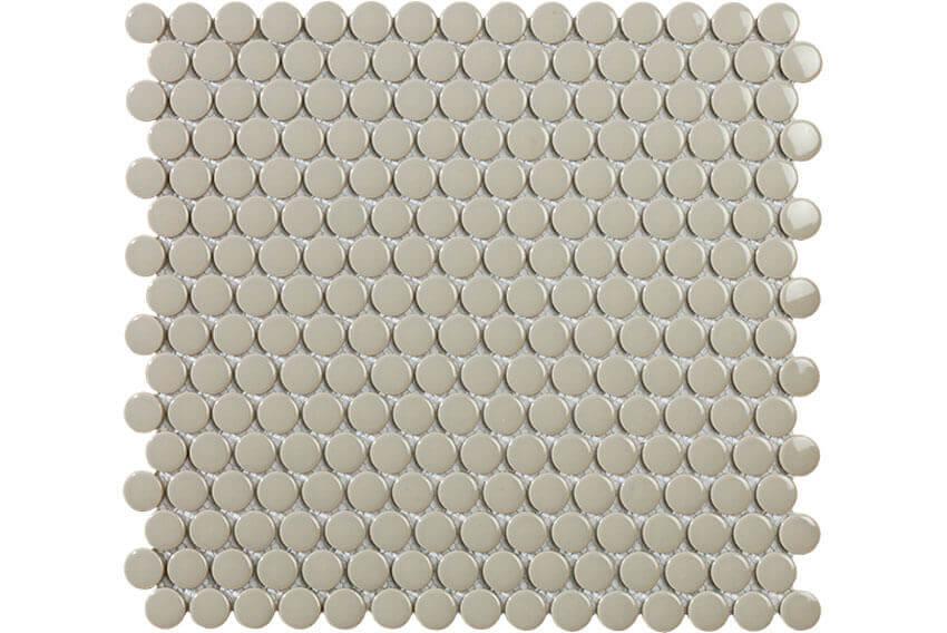 Mozaïek tegels - Penny Grey Gloss