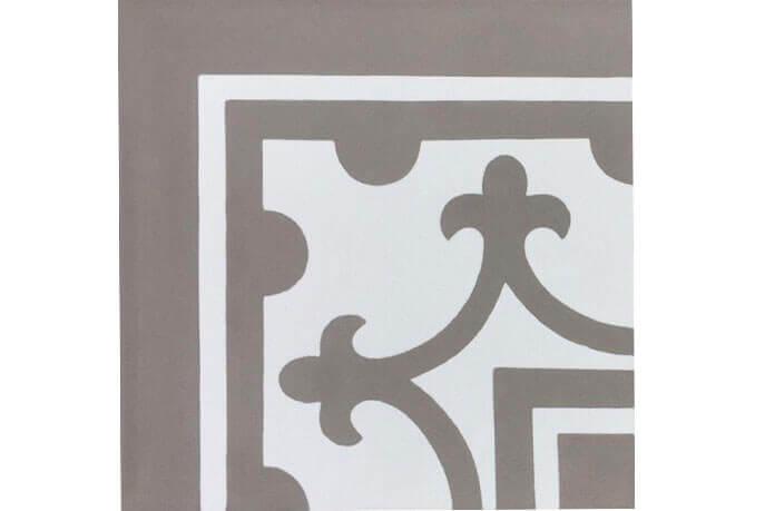 Portugese cementtegels vloer - Den Bosch - Hoekstuk