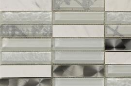 Mozaiek tegels - Canvas Snow