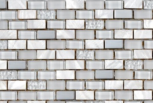 Mozaiek wandtegels - Brick Ivory