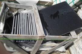 Restpartijen overige - Restpartij quartz composiet zwart vloertegels 60x60x2