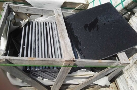 Outlet vloertegels - Quartz Composiet zwart 60x60x2 cm