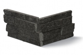 Stonepanels - Black Kwartsiet Stone Panels - Hoekstuk