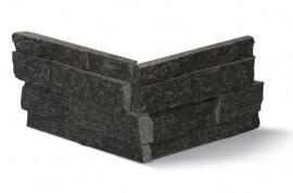 Natuursteen strips - Black Kwartsiet Stone Panels - Hoekstuk