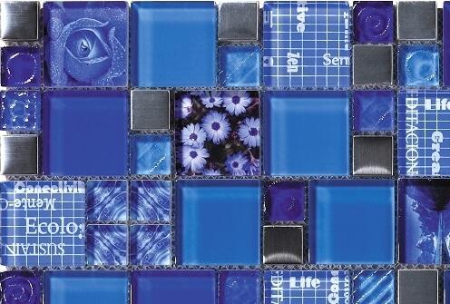 Mozaiek wandtegels - Inspiration Denim