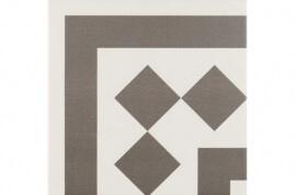 Antraciet wandtegels - Antigua Gris 001 - Hoekstuk 20x20