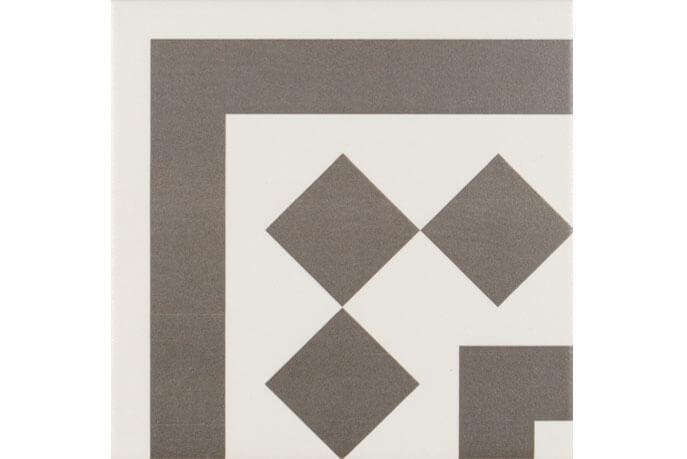 Bruine vloertegels - Antigua Gris 001 - Hoekstuk 20x20