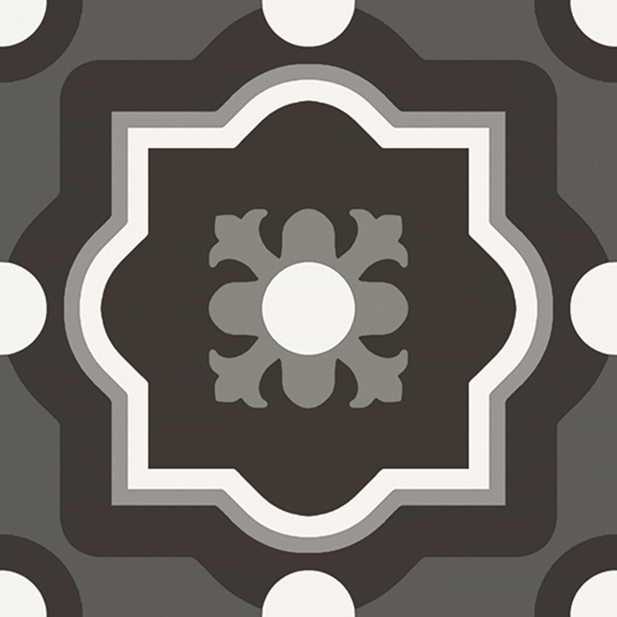 Zwarte vloertegels - Patchwork Black & White 04