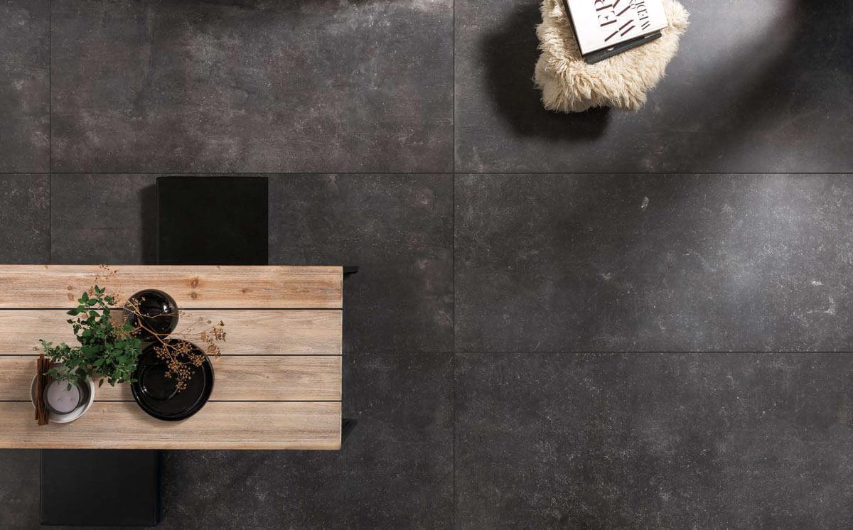 Vloertegels betonlook 80x80 cm - Carrière du Kronos Namur Bordo Anticato - Naturale