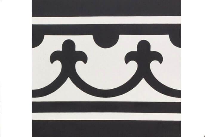 Vintage vloertegels - Utrecht - Randstuk recht