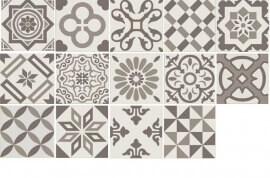 Beige terrastegels - Antigua Mix Gris 20x20