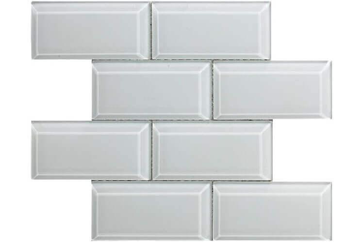 Keramische Mozaiek - Metro Bevel White