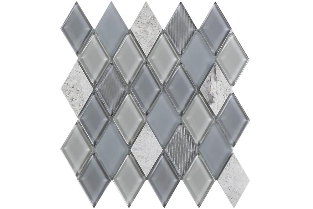 Mozaïek wandtegels - Jewel Grey
