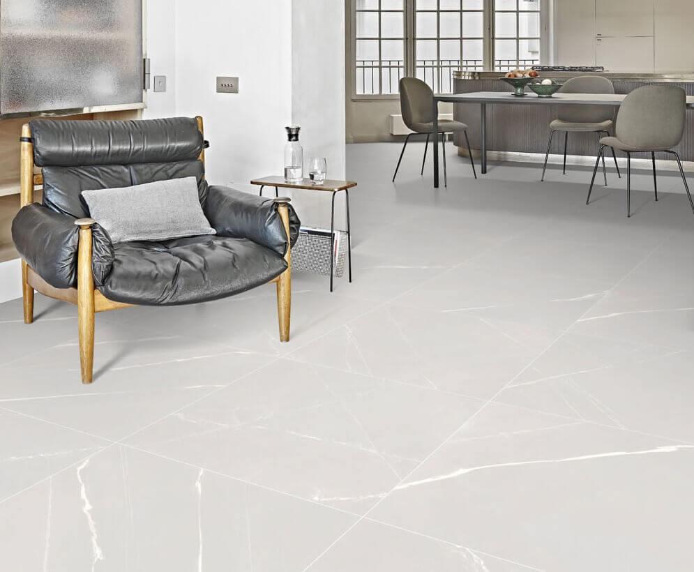 Vloertegels betonlook 30x60 cm - Blake Bianco Veined