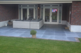 Antraciet terrastegels - Vietnamese Hardsteen - Soft Finish (Buiten)