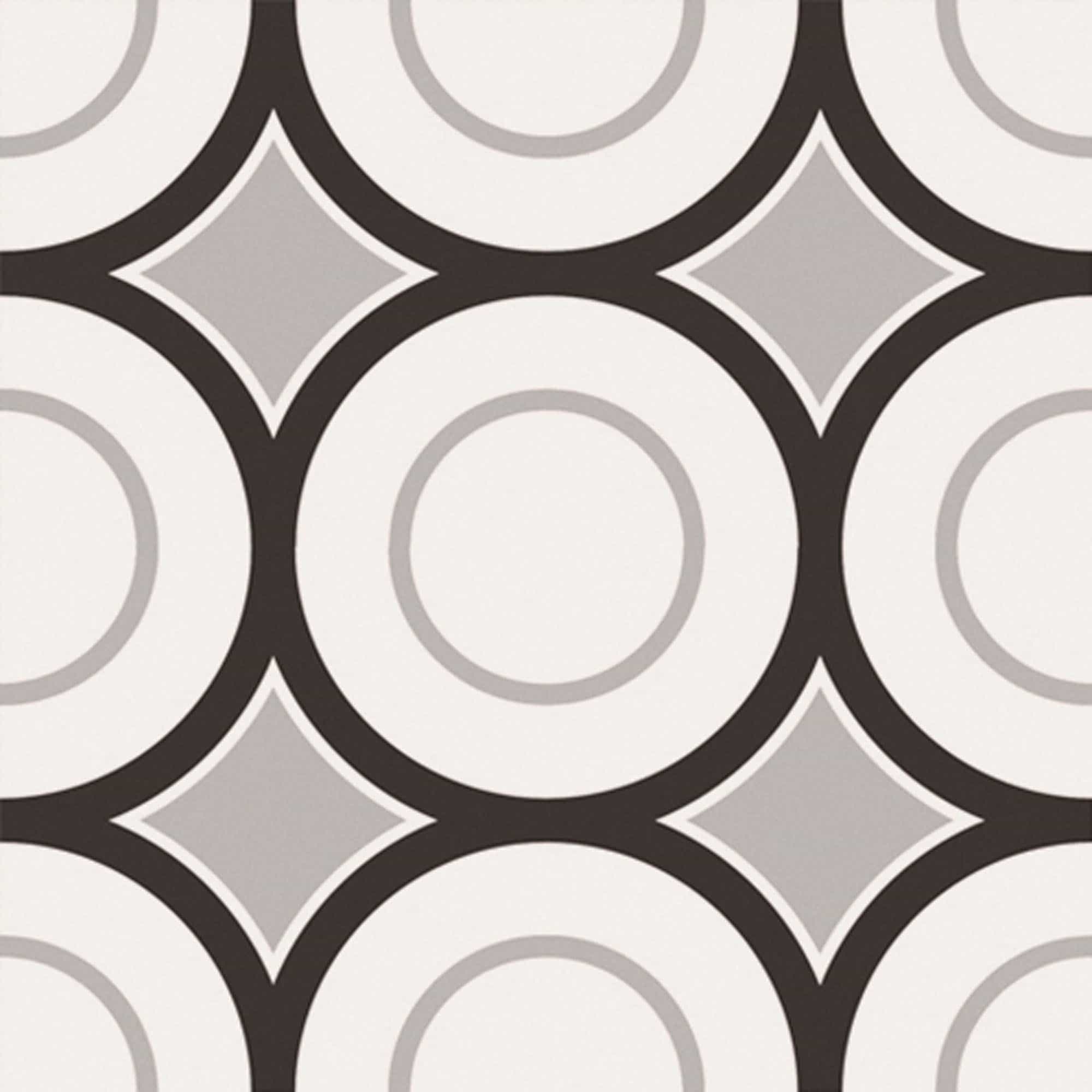 Vloertegels patroon - Patchwork Black & White 05