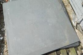 Restpartijen overige - Restpartij leisteen terrastegels 80x80x2,5cm