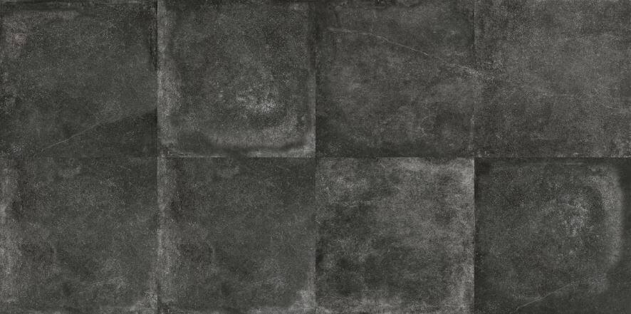Zwarte vloertegels - Marmocemento Graphite