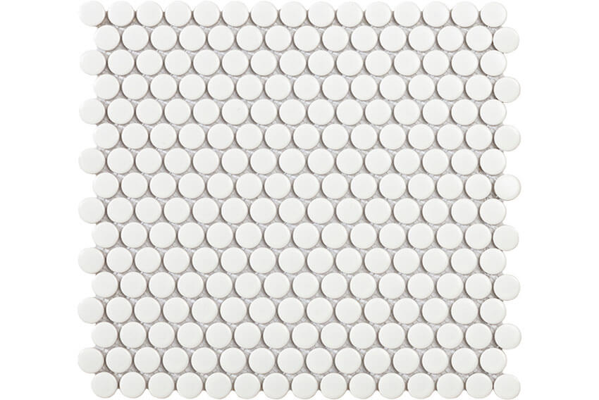 Mozaïek tegels - Penny White Matt