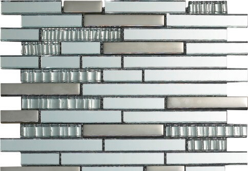 Mozaiek wandtegels - Luxury Chrome