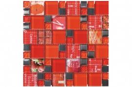 Glas Mozaiek - Carnaval Red